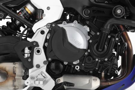 The new motor protection made of aluminum protects the engine, while maintaining low weight
