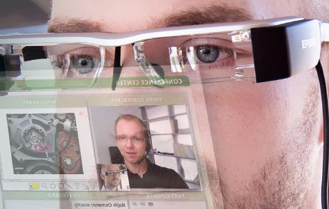 Visualisierung des Conference Centers auf der Datenbrille symmedia SP/1 Glasses