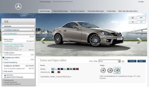 Der Mercedes-Benz Web-Konfigurator