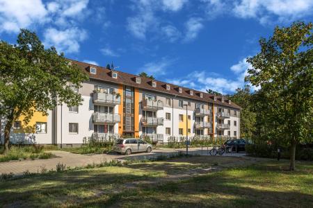 Von der früheren Wohnkaserne ist nichts mehr übrig geblieben (Foto: Caparol Farben Lacke Bautenschutz/blitzwerk.de)