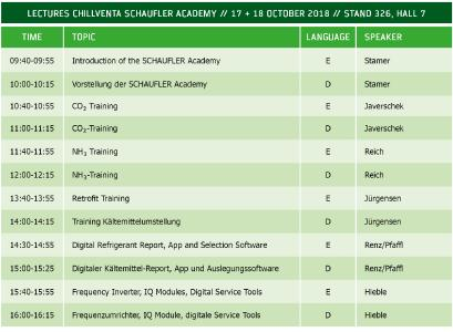 There will be exciting presentations at the BITZER stand on all three days: experienced specialists from the long-standing company will present BITZER solutions, training courses and services to all visitors in German and English
