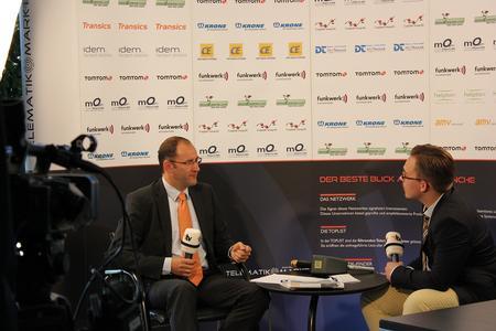 Christian Meschnig (l.), GF der CEplus GmbH im Interview mit Chefredakteur Peter Klischewsky (Bild: Telematik-Markt.de)