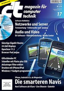 Das Titelbild der aktuellen c't-Ausgabe 17/2010