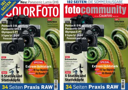The magazine and the community merge - ColorFoto will be called fotocommunity in future. The magazine's content will remain unchanged and also be published digitally on fotocommunity.de and the summer edition will have two titles to mark the name change