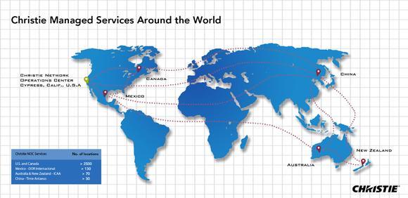 Christie NOC global expansion map, Foto: © Christie