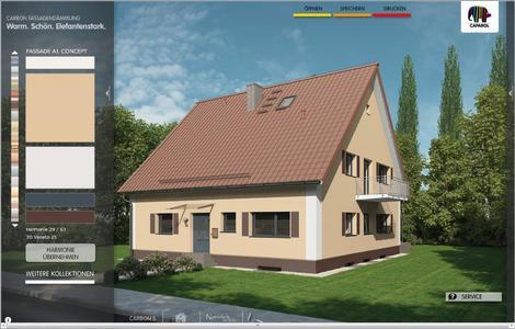 """Gestaltungsbeispiel """"ländlich-natürlich"""" aus dem Caparol Fassaden-Konfigurator. Foto: Caparol Farben Lacke Bautenschutz"""
