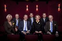 The management board of the HARTING Technology Group: Margrit Harting, Dr. Michael Pütz, Philip Harting, Andreas Conrad, Maresa Harting-Hertz, Dr. Frank Brode und Dietmar Harting (from left to right)