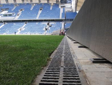 Innenansicht des Stadions in Posen, Copyright: Hauraton