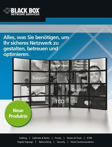 Handbuch für IT- und Netzwerktechnik im neuen Produktkatalog von Black Box