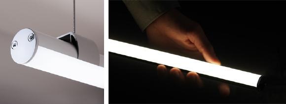 Elegante und reduzierte Formgebung gepaart mit hochwertigen Optiken: das runde, filigrane Aluminiumprofil der LYRA besitzt einen Durchmesser von nur 20 mm
