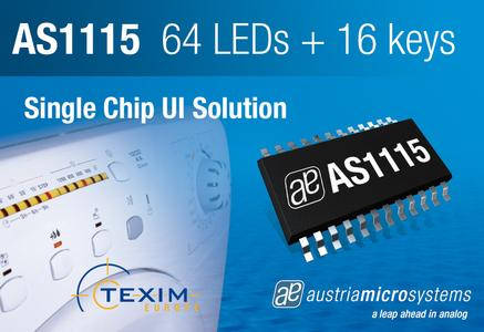 UI LED Driver with Built-in LED Error Detection from AMS