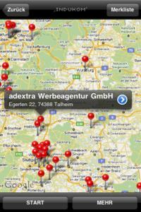 Indukom Screen indexed map