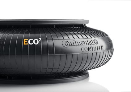 The new ECO2 air actuators are resistant to chemicals and environmental influences and can now also be used in applications in which they are exposed to lubricating oils, corrosive vapors, and alkali compounds (Photo: ContiTech)