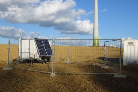 LiDAR wind measurement site