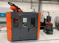 The surf finisher is a mass finishing system that allows the fully automatic, precise processing of entire work pieces or the targeted finishing of selected surface areas with a wet or dry process. The plug-and-play system is equipped with an integrated robot that holds the work piece into the rotating processing bowl filled with grinding media. If required, the robot can also guide the work piece through the processing bowl with pre-programmed, computer-controlled moveme Image sour: RWTH Aachen