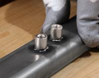 Stainless steel weld studs for Stauff clamps