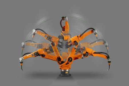 At Automatica Baumüller shows how the dynamics and precision can be improved in robotic applications (picture: Carl Cloos Schweißtechnik GmbH)