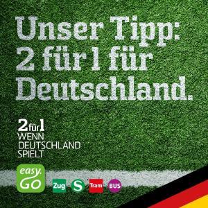 """""""2 auf 1"""" - das easy.GO Fan-Special zur WM! / Bildmaterial: TAF mobile GmbH / MDV"""
