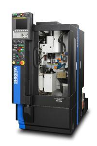 Die neue Vertikalmaschinen Shigiya GAV kann Werkstücke bis 200 mm Länge bearbeiten und zum Schleifen von Polygonen eingesetzt werden.
