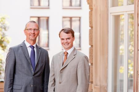 Thomas Aichelmann, Conteam (links) und Cédric Pierrard, Efficy (rechts). Copyright Conteam:Tec supportet by enricmammen.de