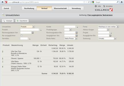 Screenshot Collmex pro_2