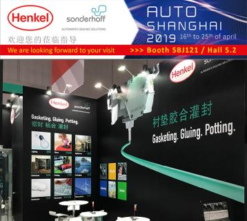 Formed In-Place (FIP) sealing technology demonstrated live at Auto Shanghai by Sonderhoff