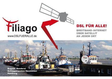 Satelliteninternet ist überall im Einsatz: auch auf dem 823. Hamburger Hafengeburtstag