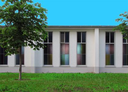 In der ehemaligen Kapelle am HS-Campus Zweibrücken findet die multimediale Rauminstallation statt