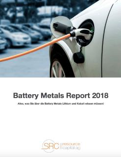 Battery Metals Report 2018 auf Deutsch