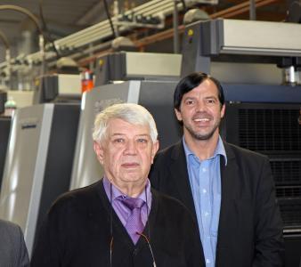 Firmengründer Erwin und Walter Meyer (r.) (Copyright: Onlineprinters Produktions GmbH)