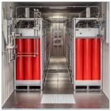 Der Blick ins Innere der ISO-Container von Wystrach, die in Skandinavien eingesetzt werden