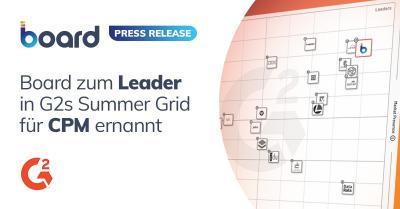 Board wird von G2 zur führenden Corporate-Performance-Management-Lösung ernannt