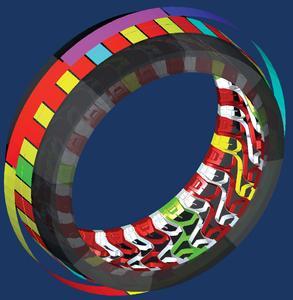 Reifenuhr: Anordnung identischer Reifenabschnitte, Bildquelle: OPEN MIND
