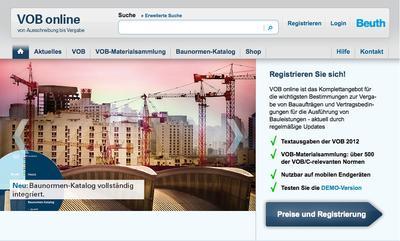 Startseite VOB online