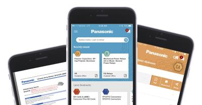 View, Bookmark and Share information about components and device specifications with Panasonic's new INDustrial App