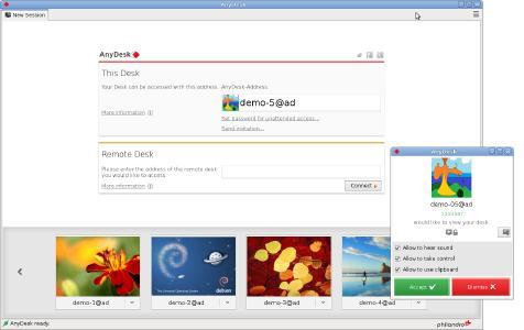 Screenshot AnyDesk Linux 2.3.1_1