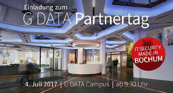 G DATA lädt zum Partnertag 2017