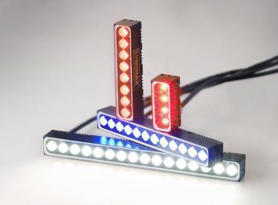 Miniaturbalkenlichter in den Größen 50 mm, 100 mm, 150 mm und 200 mm