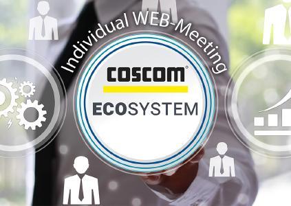Individual WEB-Meetings mit erfahrenen COSCOM Consultants zum Thema Shopfloor-Digitalisierung. Eine gewinnbringende und realitätsnahe Maßnahme zur Gestaltung der Zukunft im eigenen Fertigungsunternehmen – für Produktionsentscheider und Prozessgestalter!