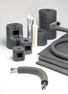 Perfect insulation for complex ducting and piping systems ContiTech is presenting the optimized Conti® Thermo-Protect insulation system at the ISO in Cologne. The highly flexible, malleable silicone material now self-vulcanizes at temperatures as low as 80°C. It is available as a paste, hose, and molded product, Photo: ContiTech
