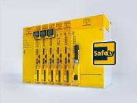 Bei der parametrierbaren Verzögerungszeit handelt es sich um ein individuell je nach Sicherheitsfunktion frei programmierbares Zeitfenster, das zwischen die Sicherheitsfunktionen und die STO-Funktion geschalten wird. Jetzt neu bei allen Safety-Modulen SAF 002/003 der Umrichterreihe b maXX 5000