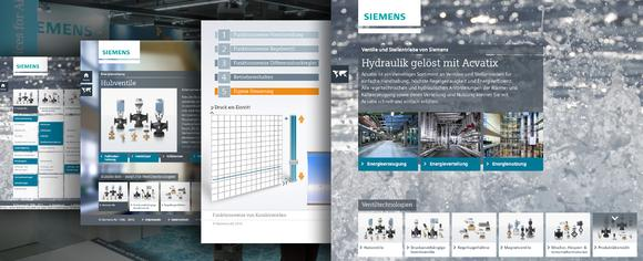 Technisch komplexe Produktinformationen interaktiv aufbereitet:arvato und Siemens machen Ventile und Stellantriebe intuitiv erlebbar