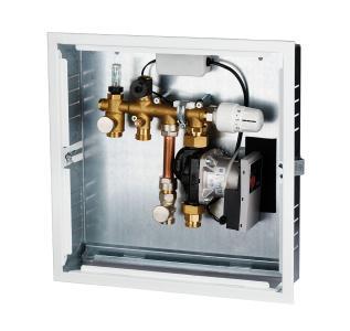 Für Einzelräume bis ca. 40 m2 hat Simplex die System-Regelbox KOMFORT entwickelt. Im praktischen Montageschrank verstaut, bietet sie Bauherren eine smarte und effektive Lösung für eine gleichmäßige, konstante Wärmeverteilung.   Foto: Simplex