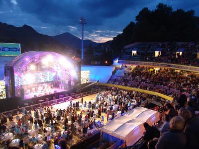 Foto vom Bühnenset