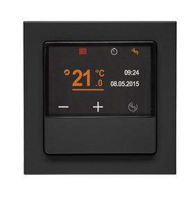 Der KNX-Temperaturregler und Raumcontroller ermöglicht neuen Bedienkomfort auf kleinstem Raum.