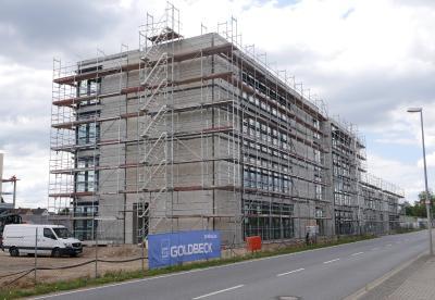 Valmet Automotive zentralisiert seine Repräsentanz in Wolfsburg in einem neuen Komplex an der Westrampe 3. Der Bürokomplex ist baulich bereits weit fortgeschritten