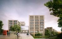 Blick auf den Campus Richtung Haus 1/2,  finest images / O&O Baukunst