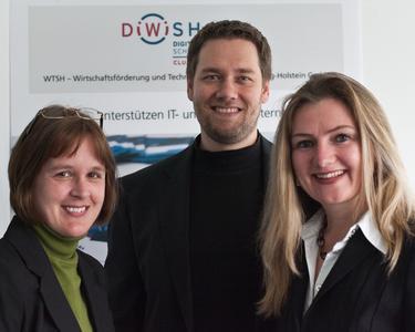 DiWiSH B1: Nina Prigge, Projektleiterin Clustermanagement DiWiSH, Lydia und Thomas Bahn, Geschäftsführer assono GmbH