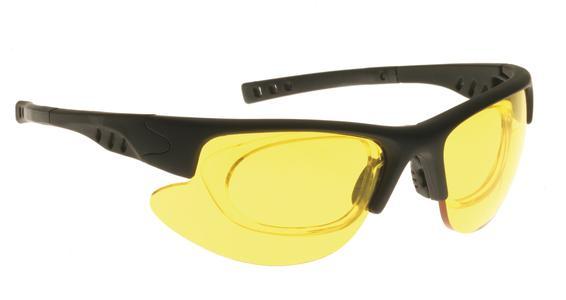 Das neue Gestell mit Klippeinsatz für Korrekturlinsen. Die Brillen aus Polycarbonat zeichnen sich durch hohen Tragekomfort und hohe Stabilität aus.