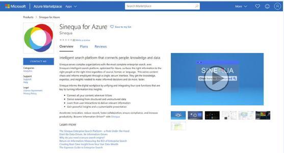 Intelligente Sinequa-Suchplattform für Microsoft Azure. Quelle: Sinequa